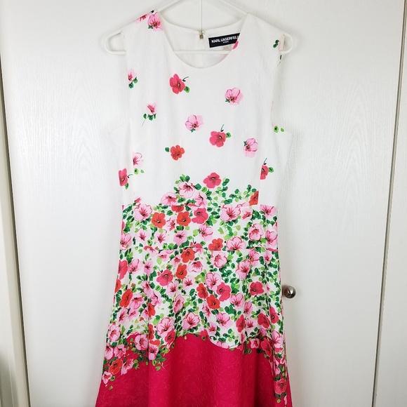 Karl Lagerfeld Dresses & Skirts - Karl Lagerfeld sleeveless Floral midi dress sz 10